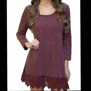Dresses & Skirts - MiYang Womens Long Sleeve A-line Lace Casual Dress